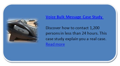 Call management a call centre voice bulk message case study