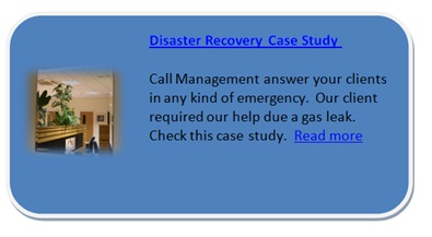 Call management a call centre disaster recovery case study