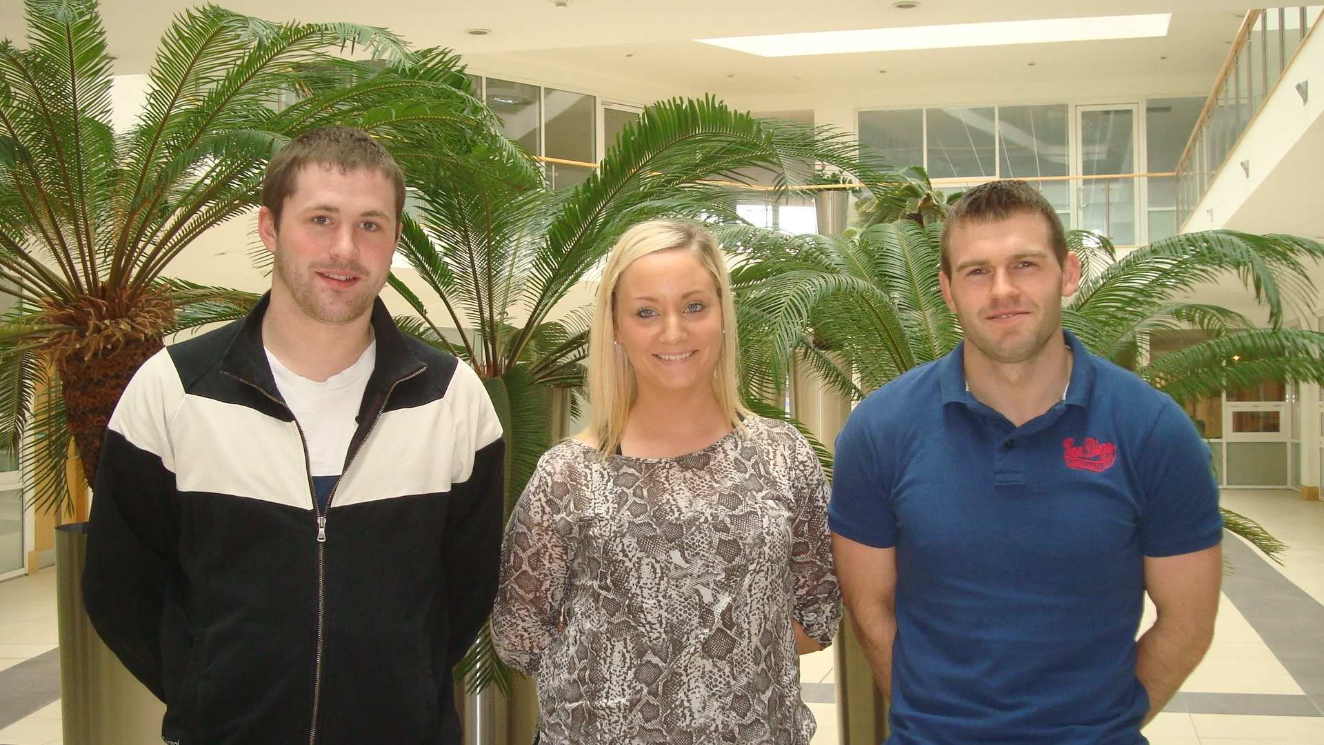 Call Management employees: Kieran Howlin, Lisa O'Sullivan and Adrian Murphy